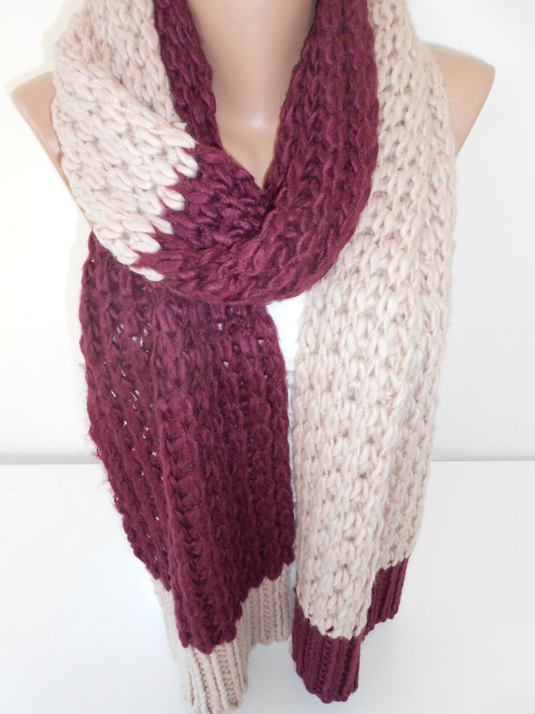 Knit Scarf Shawl Knitted Warm Winter Scarf | SCARFCLUB