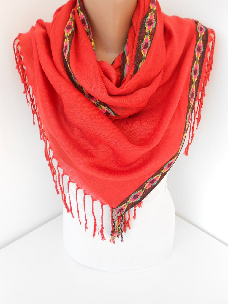 Indian Hippie Scarf Native Tribal Scarf Boho Cowl Scarf | SCARFCLUB