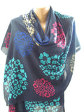 So Soft Floral Scarf Navy Blue Scarf Shawl Hippie Scarf Bohemian Scarf Spring Scarf Women Fashion Accessories Mothers Day Gift For Mom