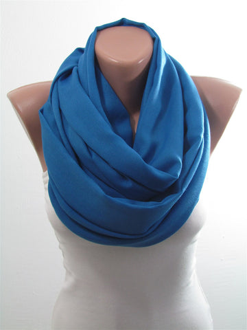 Blue Pashmina Scarf Shawl Fall Winter Cowl Scarf Wrap  SCARFCUB