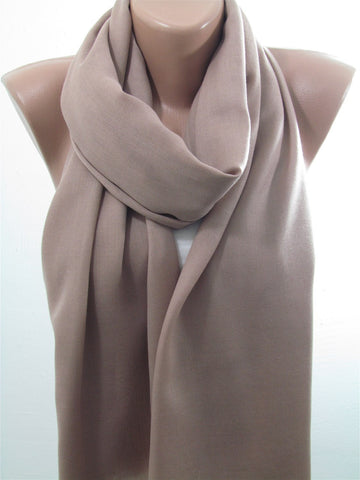 Brown Pashmina Scarf Shawl Fall Winter Fashion Cowl Scarf  SCARFCLUB
