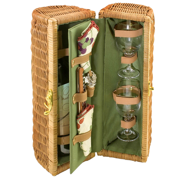 Bacchus Insulated Single Bottle Wine Basket