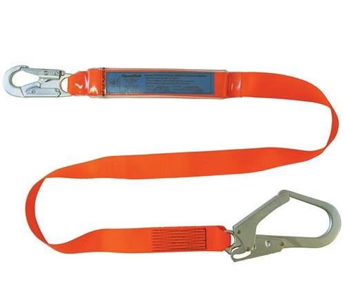 SPANSET ERGO Single Lanyard with Scaffold Hook Webbing