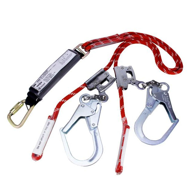 PROTECTA Twin Adjustable Rope Fall Arrest Lanyard