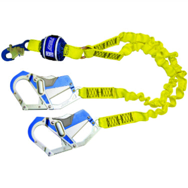 SALA Force 2 Twin Elasticated Lanyard with Comfort Hooks Default Title