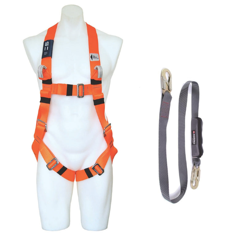 Fall Arrest Harness and Single Lanyard - Hire