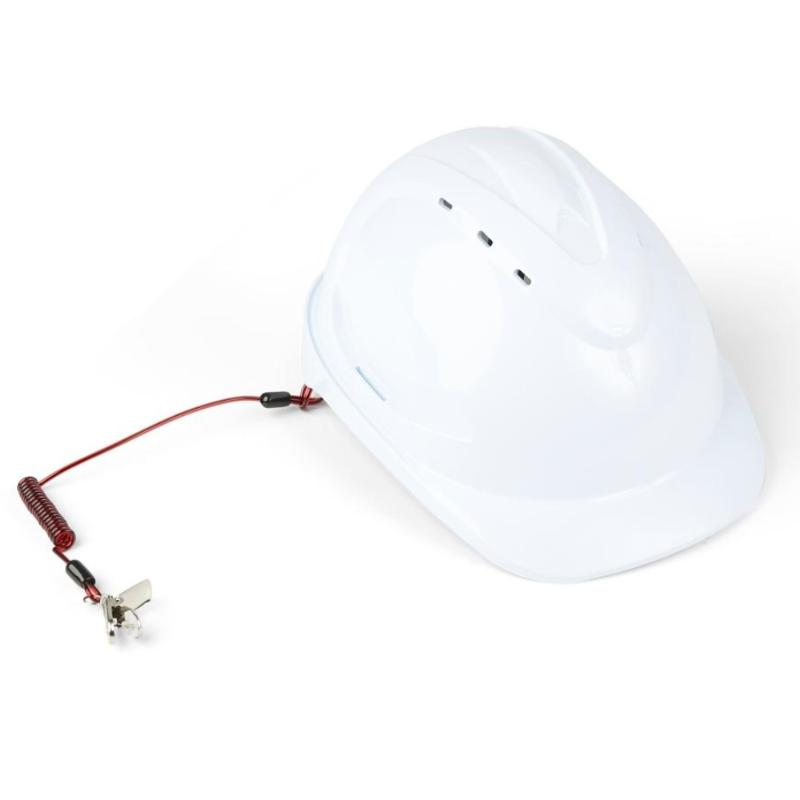 GRIPPS Coil Hard Hat Tether with Hard Hat - H01070
