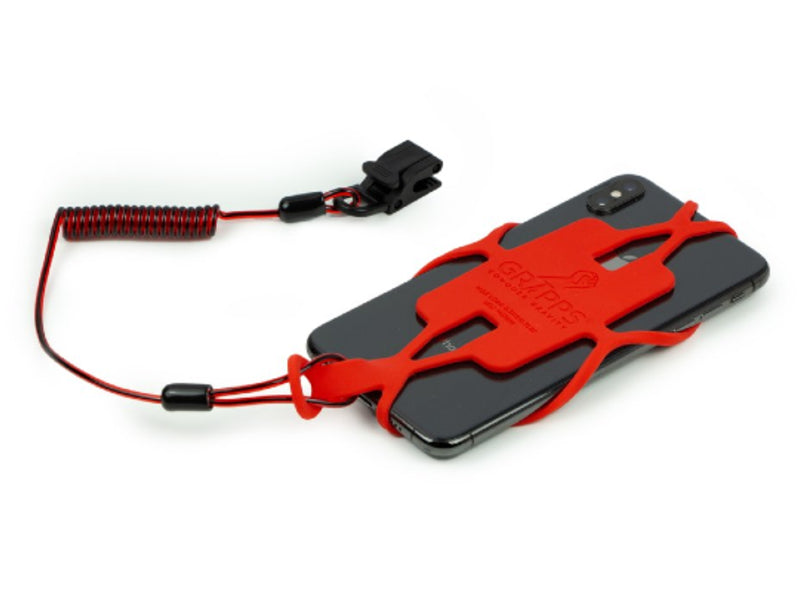 Gripps Phone Gripper with Tether Back