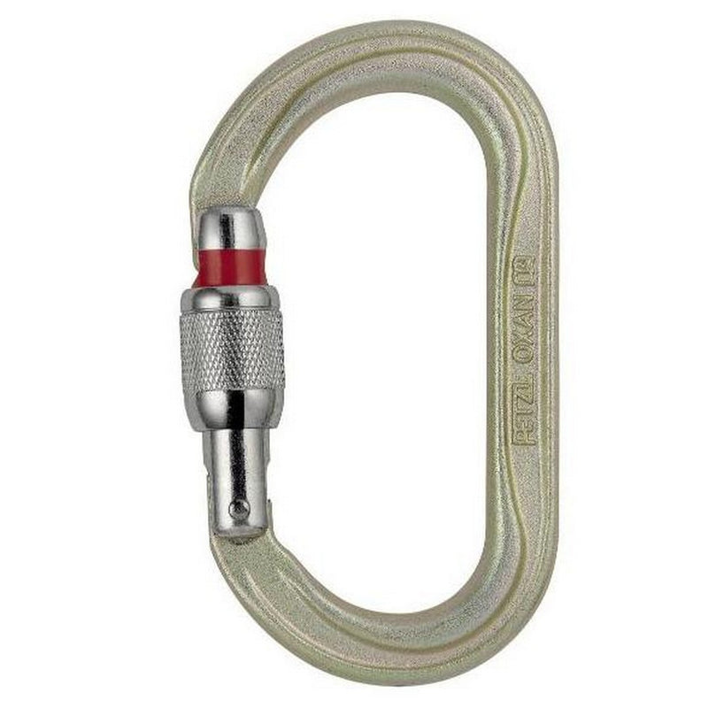 PETZL Oxan Oval Carabiner Gold Screwgate