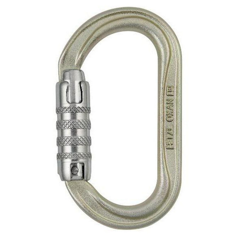PETZL Oxan Oval Triact Carabiner Gold Triact Lock