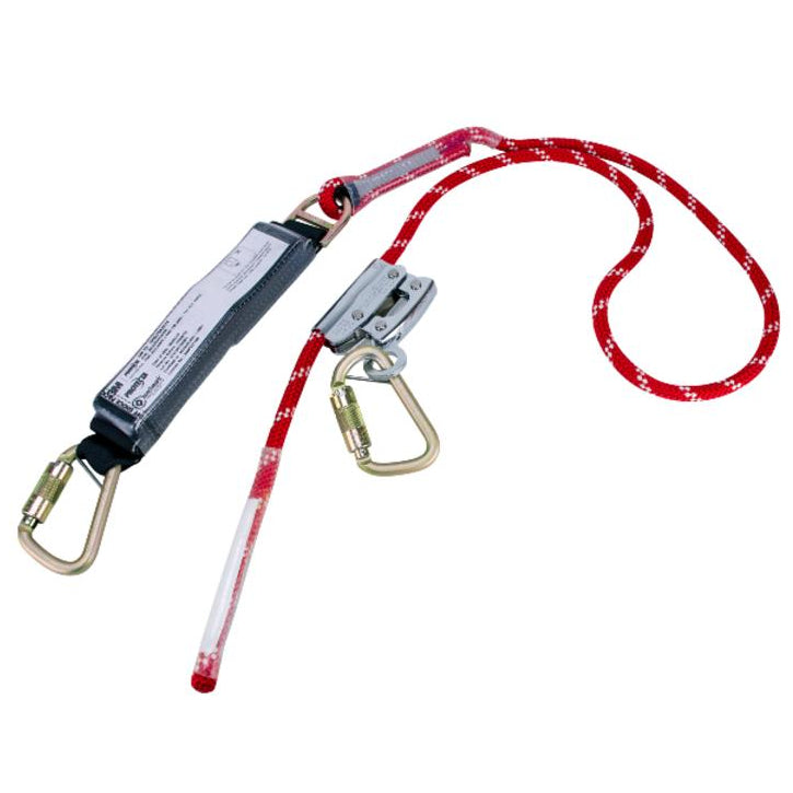 PROTECTA Adjustable Rope Fall Arrest Lanyard AE529ADJ/9R with Carabiners