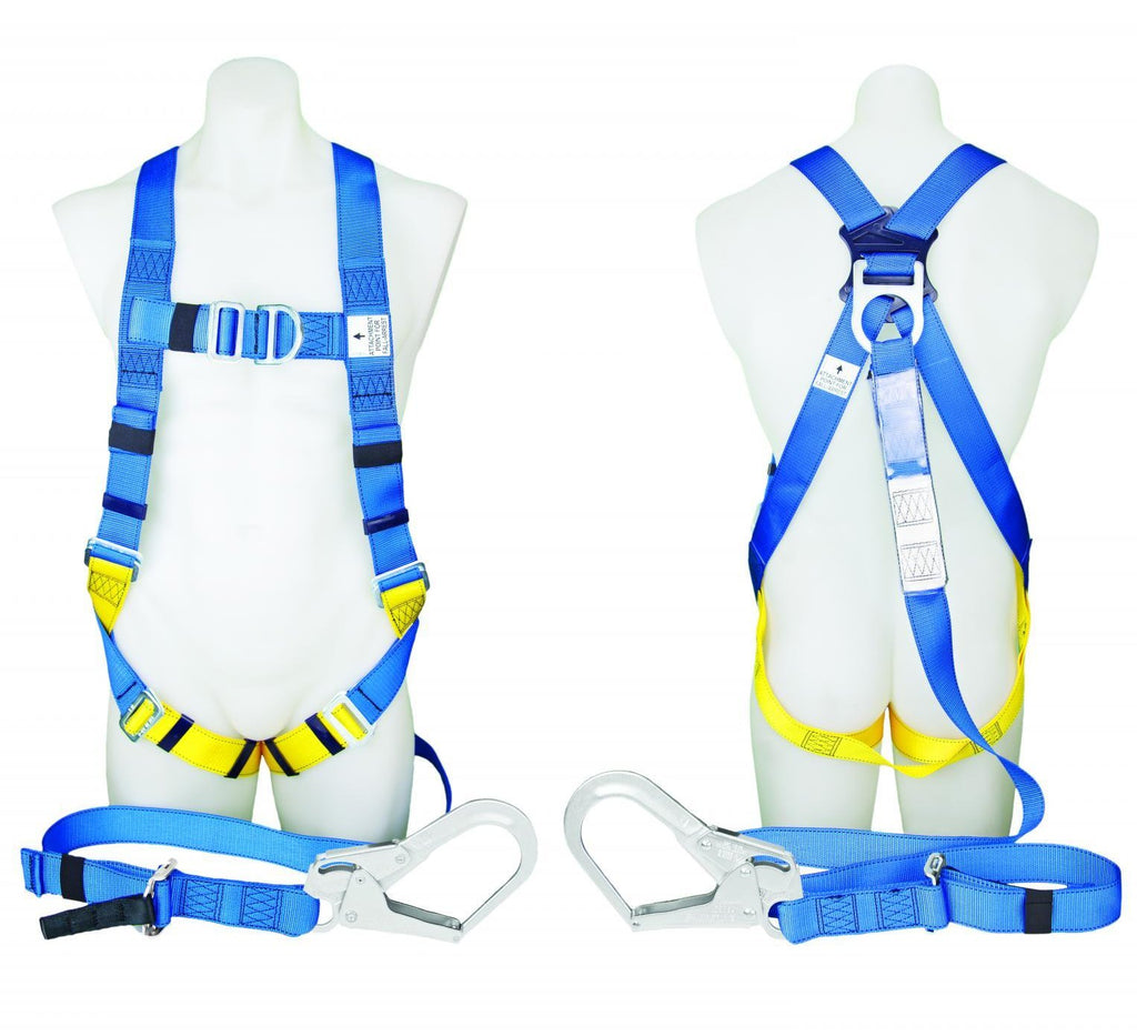 PROTECTA FIRST Fall Arrest Harness with Scaffold Hook Lanyard