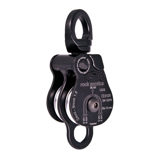ROCK EXOTICA Omni Block Pulley - Double 1.5 Black