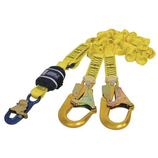 SALA Force 2 Twin Elasticated Lanyard with Alloy Scaff Hooks