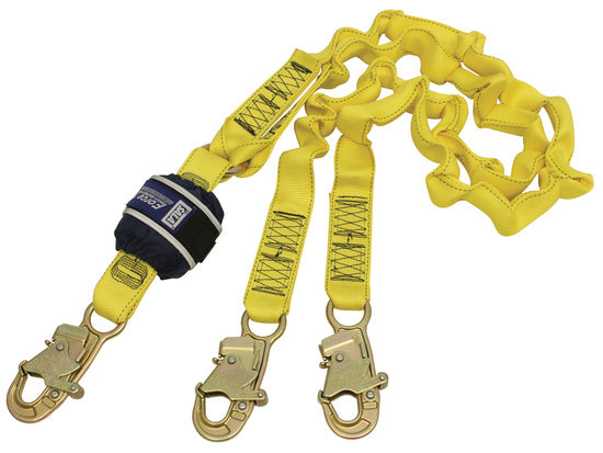 SALA Force 2 Twin Elasticated Lanyard with Small Hooks Default Title