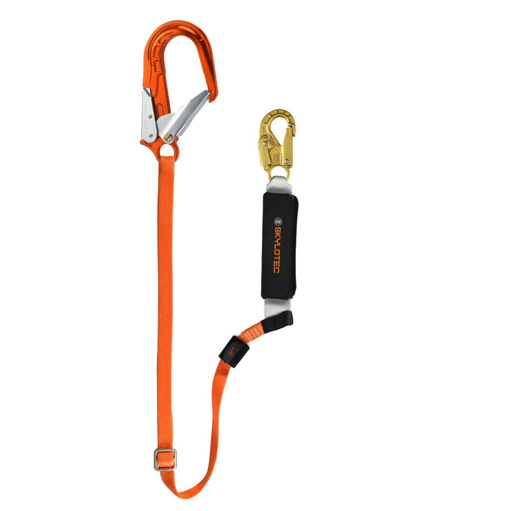 Skylotec BFD Adjustable Shock Absorbing Lanyard with Scaffold Hook
