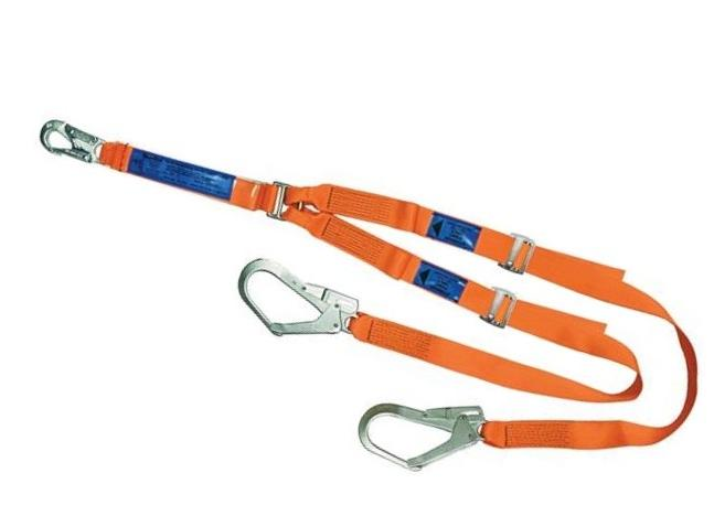 SPANSET ERGO Twin Lanyards with Scaffold Hooks Adjustable