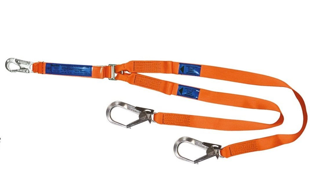 SPANSET ERGO Twin Lanyards with Scaffold Hooks Webbing