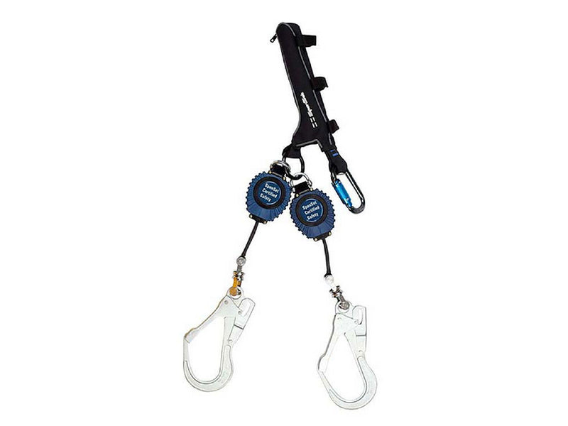 SPANSET Twin DSL2 Retractable Lanyard - Steel Hooks