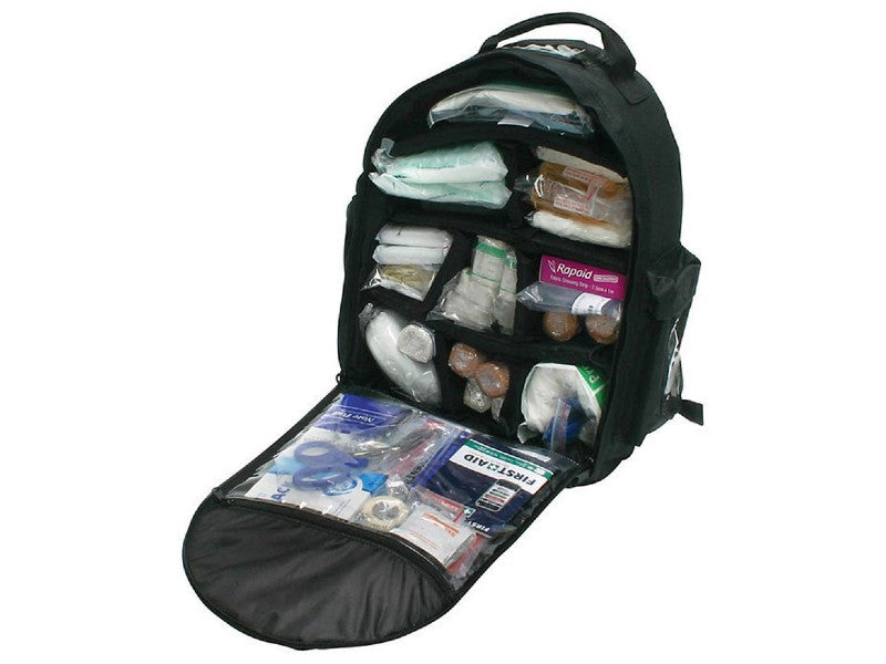 Trauma Major Emergency First Aid Kit - Back Pack Open