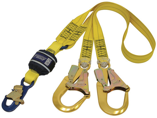 SALA Force 2 Twin Webbing Lanyard with Alloy Scaffold Hooks