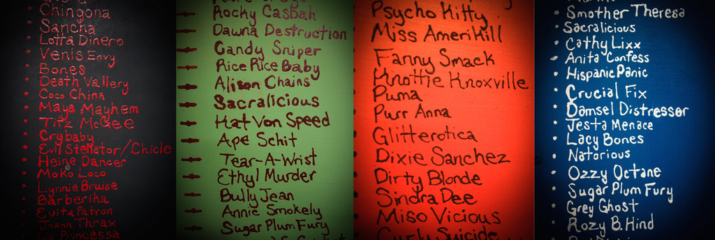 Early Roller Derby Skate Names