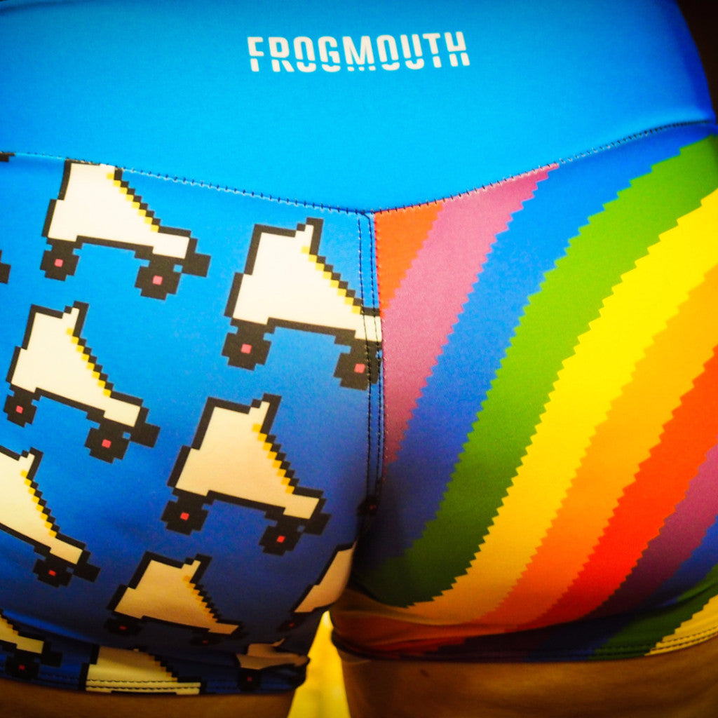 big gay american flag booty shorts – frogmouth