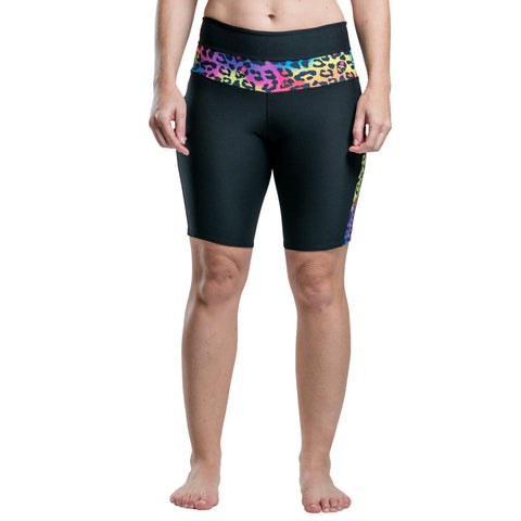 Frogmouth Clothing Roller Derby Shorts Cycle Shorts Rainbow Cheetah