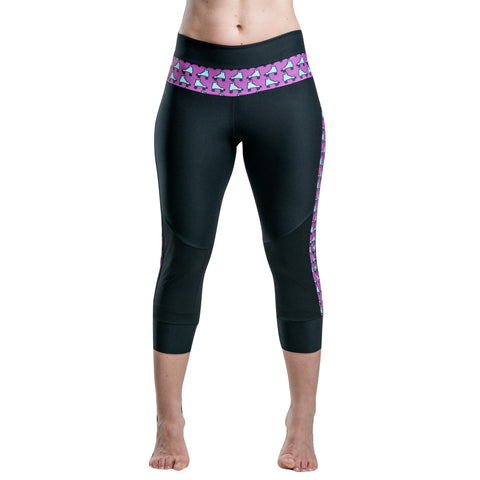 Frogmouth Clothing Roller Capri Pants Leggings Magenta 8-Bit Skates Built-In Knee Protection Purple Lilac