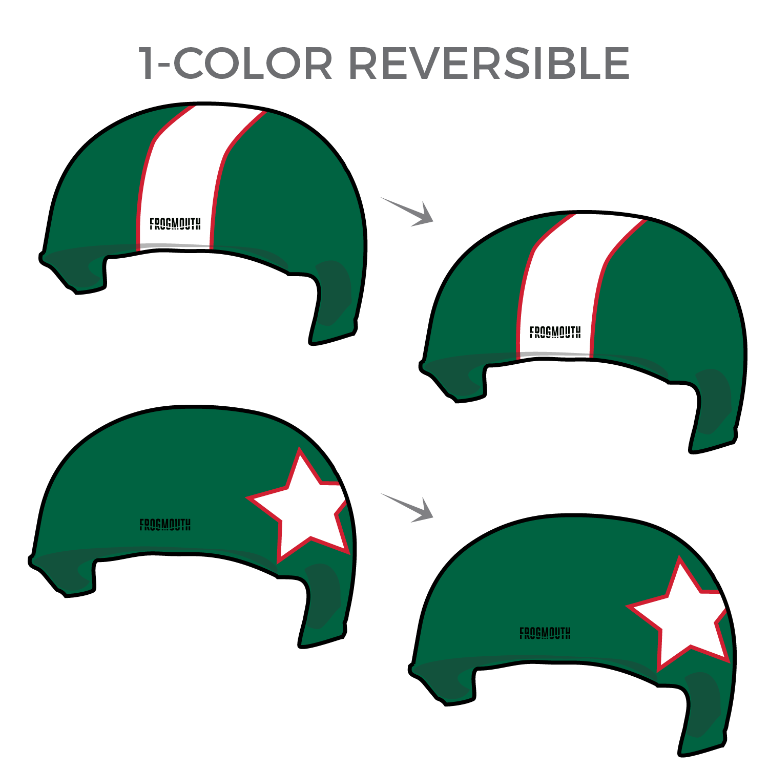 52920c293 Team Mexico  Pair of 2018 World Cup 1-Color Reversible Helmet Covers ...