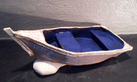 Ceramic fishing boat