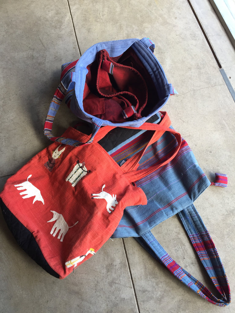 Handwoven bags from Tibet