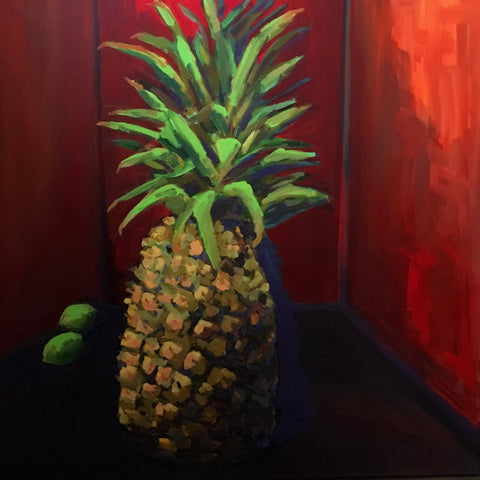 Pineapple in red room