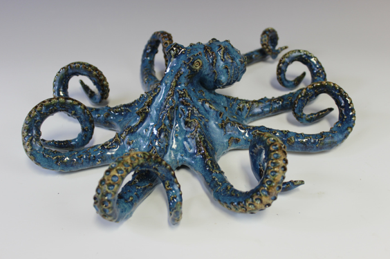 Blue Small Wall Octopus