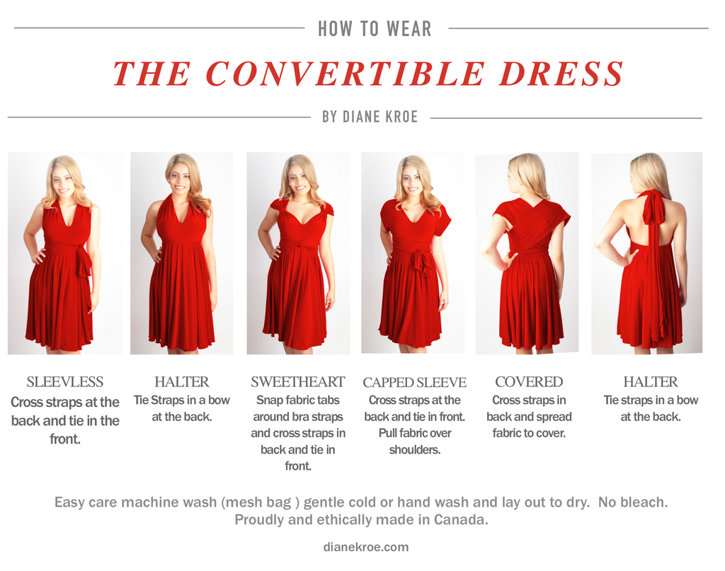 Diane Kroe How to Wear the Convertible Dress