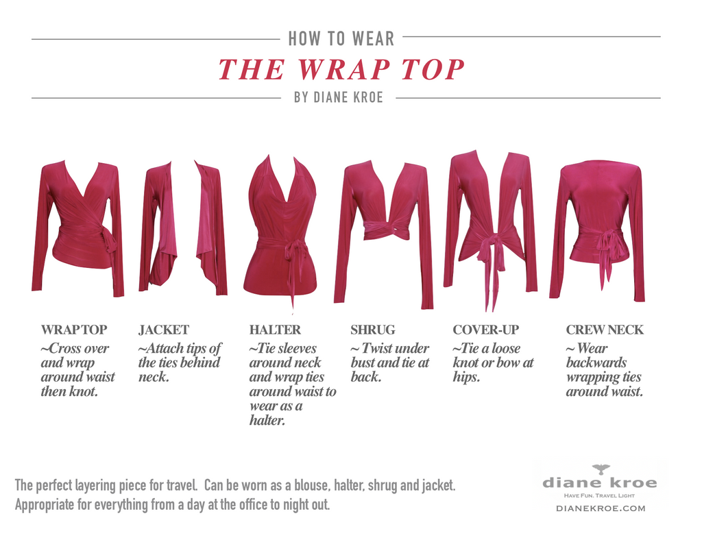 Diane Kroe How To Wear Wrap Top