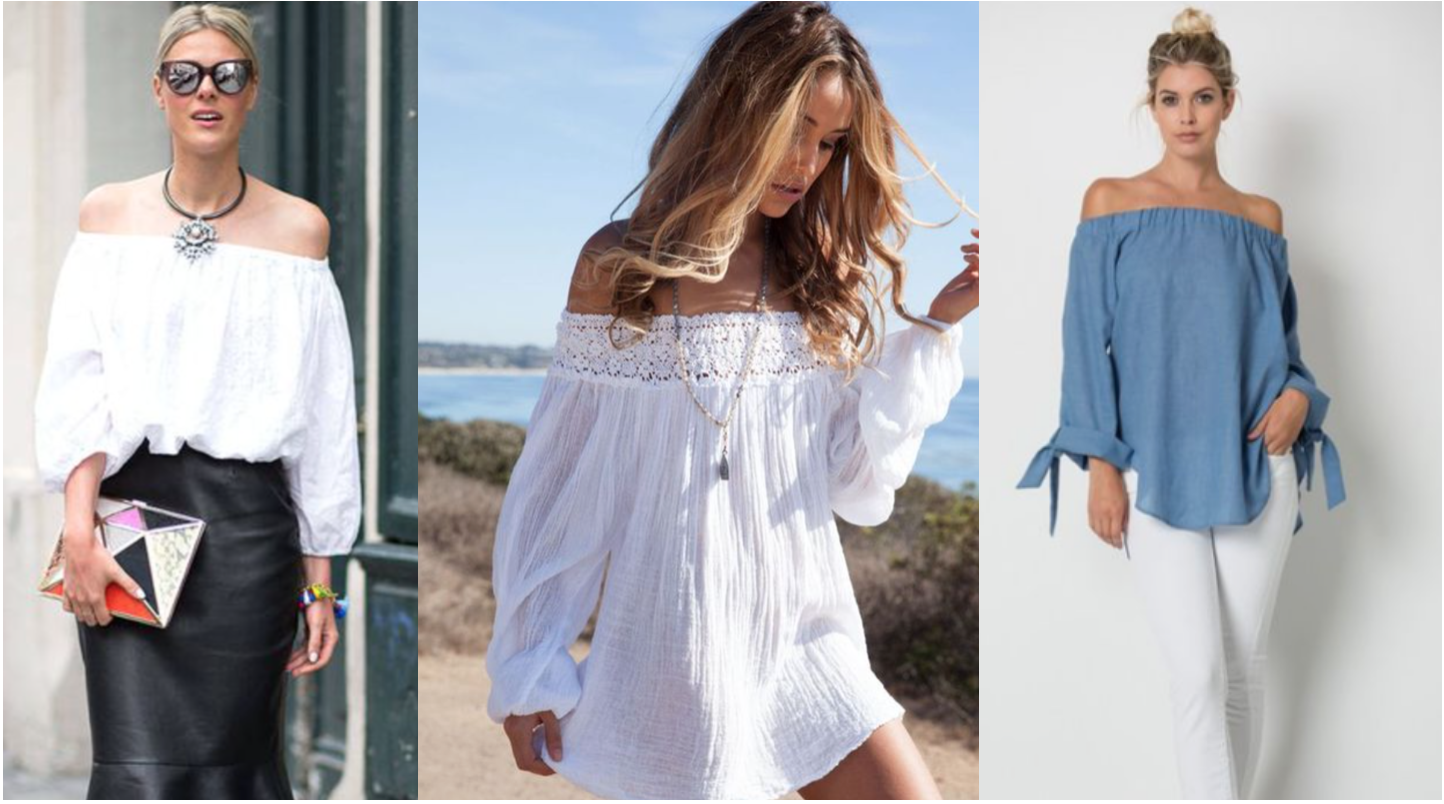 Off Shoulder Peasant Tops