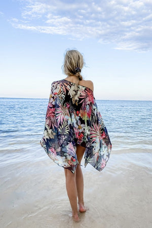 Butterfly Wrap - Tropical Print