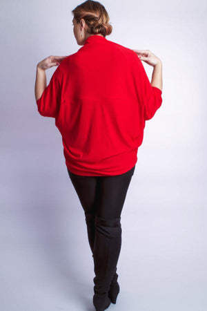 Diane Kroe wanderlust wrap Travel Cardigan red prarisienne wanderlust wrap soft jacket back