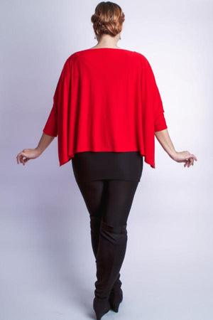 Diane Kroe wanderlust wrap Travel Cardigan red prarisienne wanderlust wrap french swing sweater back