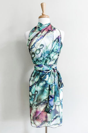 Butterfly Wrap - Lime Bubble