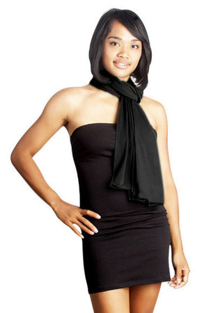 Diane Kroe Endless Infinity Scarf Convertible Travel Dress black
