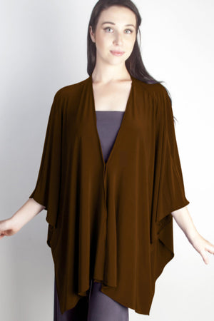 Diane Kroe Butterfly Convertible Cover Up  Brown