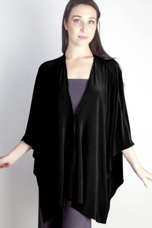 Diane Kroe Butterfly Convertible Cover Up Black