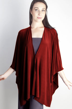 Diane Kroe Butterfly Convertible Cover Up  Wine