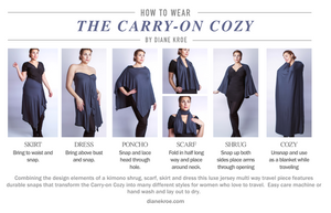 Carry on cozy Travel Scarf how to wear style guide
