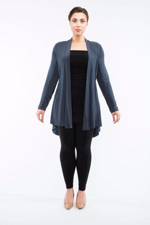 Diane Kroe Layer Jacket - Travel Cardigan grey