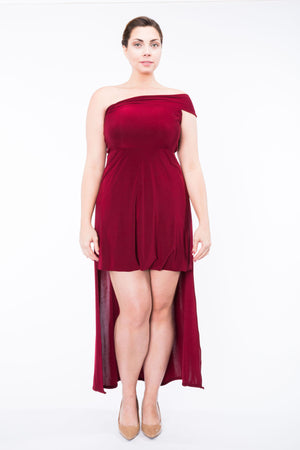 Diane Kroe Ultimate Holiday Dress - Convertible Maxi Dress high low one shoulder full sizee