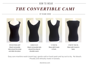 Diane Kroe Convertible Cami - Reversible Tank Top Ways to Wear