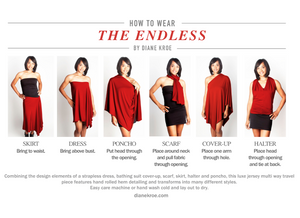 How To Wear Diane Kroe Endless Infinity Scarf Travel Dress